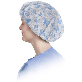 Medline Bouffant Cap 24-inch Pro Series Butterfly Print (Pack of 500)
