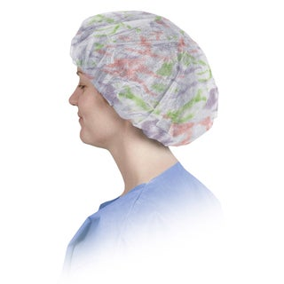 Medline Bouffant Cap 24-inch Pro Series Multi Color Print (Pack of 500)