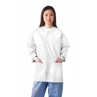 Medline Lab Jacket, SMS, Knit Collar, S (bulk pack of 30)