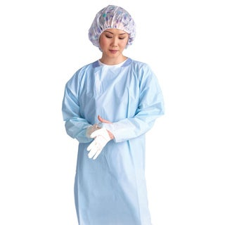 Medline Isolation Gown Thumb Loop Blue XL (Pack of 75)