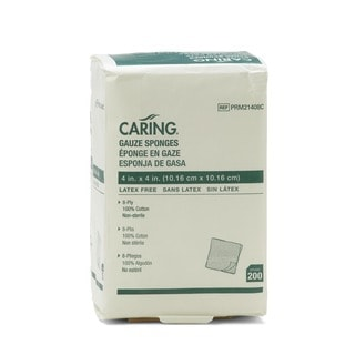 Medline Non-sterile 8-ply 4-inch Gauze Sponges (Case of 4 000)