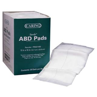 Medline Sterile 5in x 9in Abdominal Pad (Case of 400)