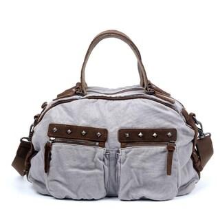 TSD Brand Fiddle Bow Canvas Satchel Handbag