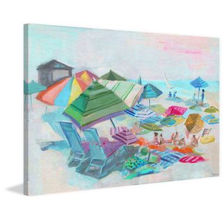 'Beach Day Fun' Painting Print on Wrapped Canvas