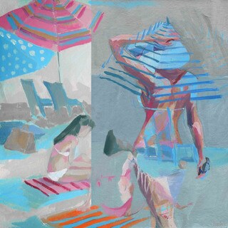'Beach Life' Painting Print on Wrapped Canvas