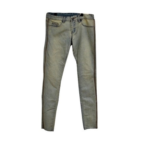 Blancnyc Womens Stretched Washed Jeans with side lining