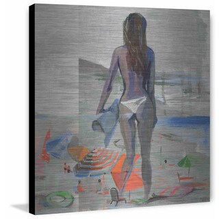 'Fun in Ibiza' Painting Print on Brushed Aluminum