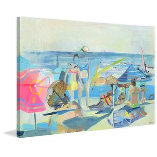 'Family Beach Time' Painting Print on Wrapped Canvas
