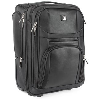 Ful Crosby Black 16.5-Inch Rolling Carry-On Underseat Suitcase