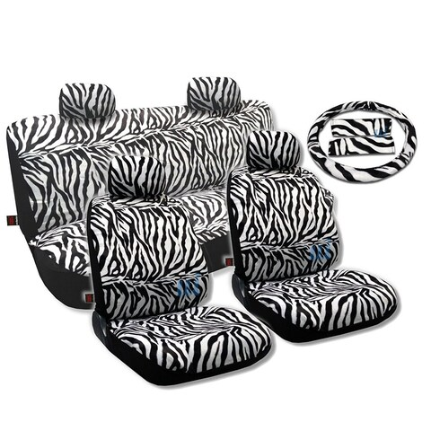 Animal Print Seat Cover 13pc Front Pair Bench Steering - Toyota Celica