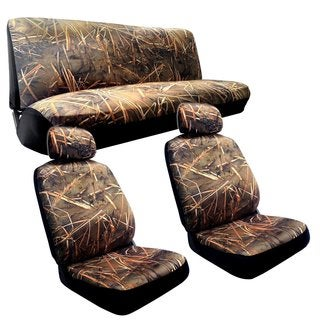Muddy Water Camo Seat Cover-Chevrolet Cavalier 2 Seat Bench Camouflage