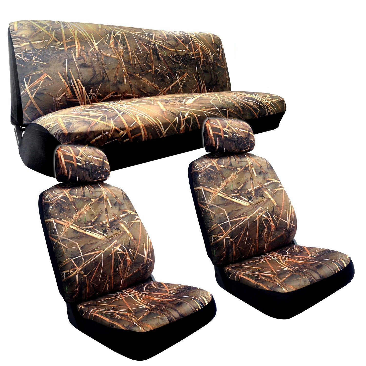 Unique Industries Muddy Water Camo (Green) Seat Cover-Chr...