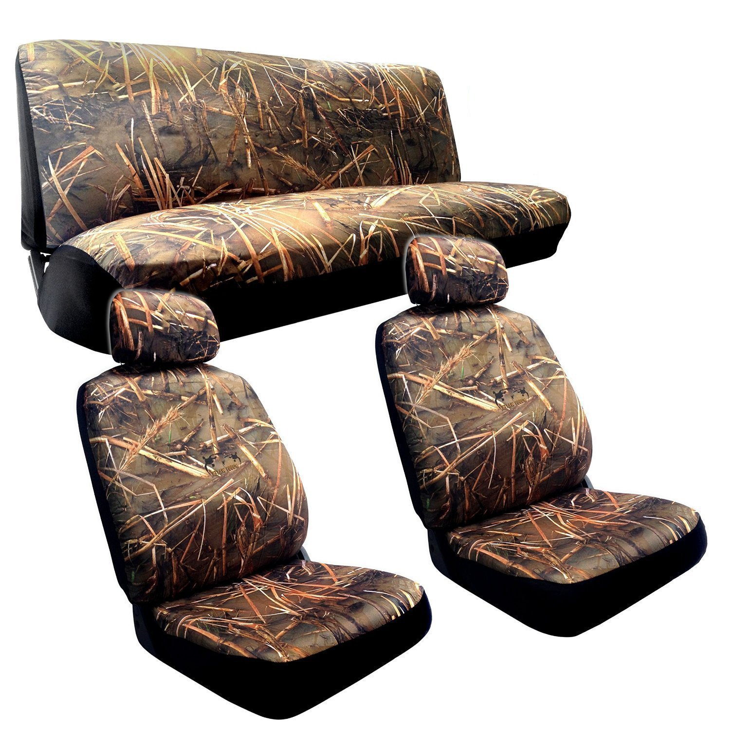 Unique Industries Muddy Water Camo (Green) Seat Cover-Toy...