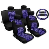 Purple Zebra Accent Fur Black Mesh Breeze Seat Cover Se – Jeep Liberty