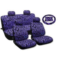 Seat Covers Sedan Set Front Pair Bench Steering  Purple- Nissan Sentra