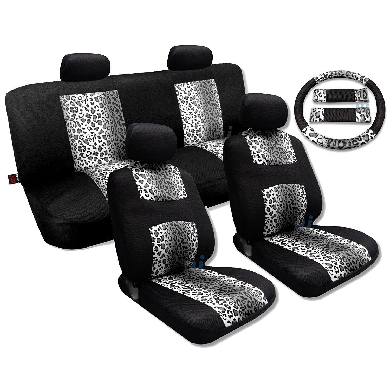 Unique Industries Snow Gray Leopard Black Knit Mesh Breez...