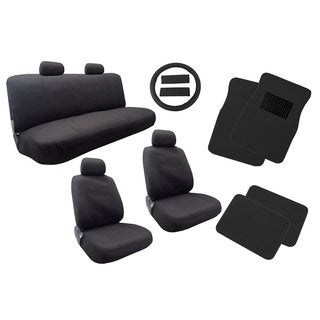 Polyester Seat Cover Mat Black 13pc Bench Steering & Pads- Dodge Neon