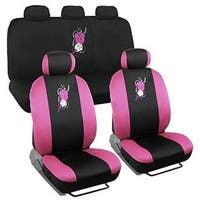 BDK Pink Hawaiian Floral Seat Covers for Car, SUV Fit Car Accessory