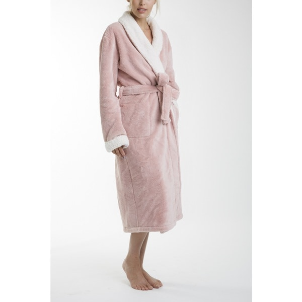 9605c98fd8 Shop Keila Sherpa Bath Robe - Free Shipping Today - Overstock - 19311416