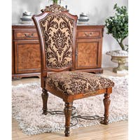Furniture of America Tifanil Traditional Brown Cherry Dining Chair (Set of 2)
