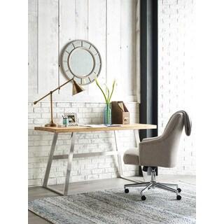 Serta Packard Brown Wood and Metal Modern Writing Desk
