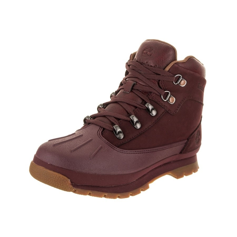 Timberland Kids Shell-Toe Euro Hiker Boot (4), Boy's, Red...