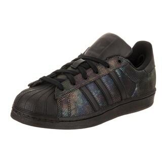 Adidas Kids Superstar Black Iridescent Originals Casual Shoe