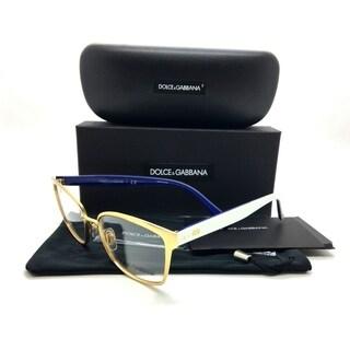 Dolce & Gabbana Gold Eyeglasses DG 1282 1292 53 17 140 mm Brushed Metal Plastic