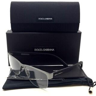Dolce & Gabbana Gunmetal Rubber Men Eyeglasses DG1272 1262 53 18 145