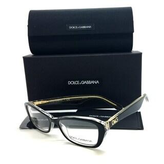Dolce & Gabbana Black Shiny Gold Glitter Women Eyeglasses DG 3168 2737 51 16 135