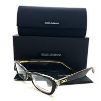 Dolce & Gabbana Gold Glitter Havana Brown Women Eyeglasses DG 3168 2738 51 16 135
