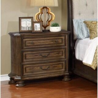Best Master Furniture Brown Wood 3-drawer Nightstand