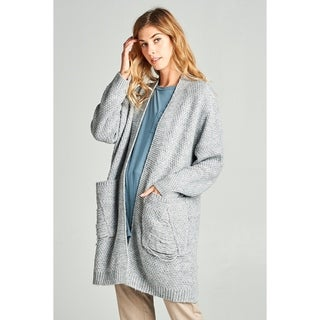 Spicy Mix Erin Distressed Chunky Knit Cardigan