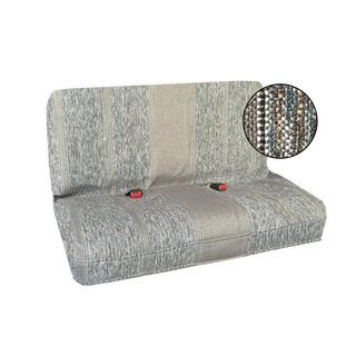 Saddle Blanket Bench Seat Cover, Baja Woven Design-all car Gray