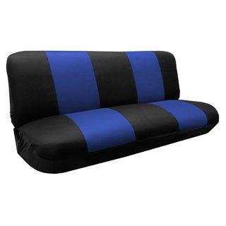 Premier Knit Mesh Bench Seat Cover - Vans SUV Black & Blue- Ford F-250