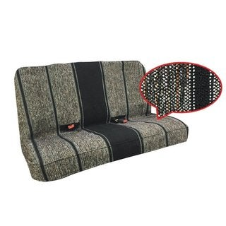 Saddle Blanket Bench Seat Cover, Baja Woven Design- ALL CAR Black