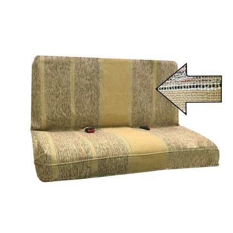 Saddle Blanket Bench Seat Cover, Baja Woven Design- all car Tan