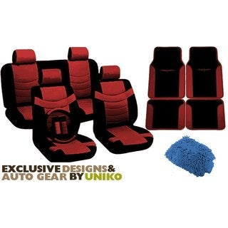 Auto Interior Set Two Tone PU Synthetic Leather Seat Covers &