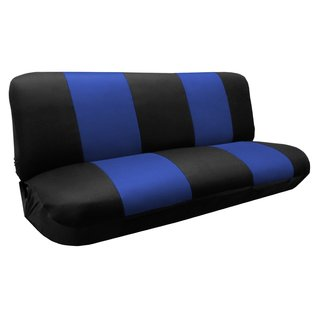 Premier Knit Mesh Bench Seat Cover SUV Black & Blue- Chevy Silverado