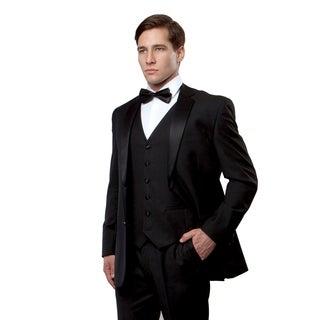 Mens 3 piece Tuxedo Set Suit, Vest, Pants