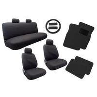 Polyester Seat Cover Mat Black 13pc Bench Steering- Chevy Malibu