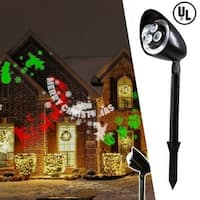 Christmas Festival ® Landscape Decor LED Light Shower Whirl-in-Motion Projector Light - merry christmas