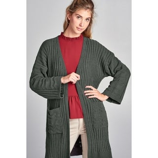 Spicy Mix Nevaeh Soft Plush Textured Cardigan Sweater