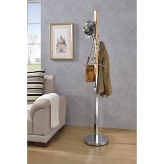 ACME Blaire Coat Rack in Natural and Chrome