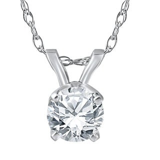 Bliss 14k White Gold 3/4 ct TDW Diamond Clarity Enhanced Pendant (G-H/SI)