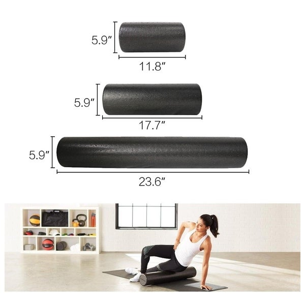 Yoga Foam Roller Muscle Back Pain Yoga Pilates Massage Fitness Exercise Rollers