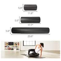 "New Black 18X6"" Extra Firm High Density Foam Roller Yoga Massage"