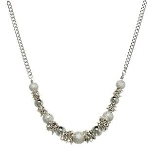 Diamond Dust Beaded Ring Necklace