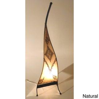 Handmade Sahara Genuine Leather Floor Lamp (Morocco)