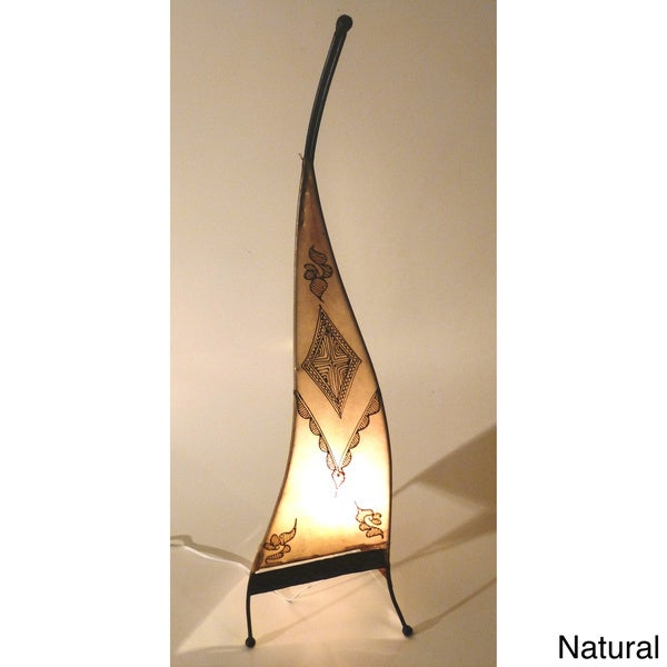 Handmade Sahara Genuine Leather Floor Lamp (Morocco)